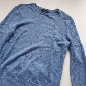 Ralph Lauren lyseblå sweater, top kvalitet, top stand