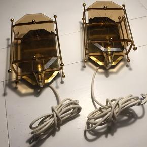 Flotte retro messing lampetter  Sælges kun samlet