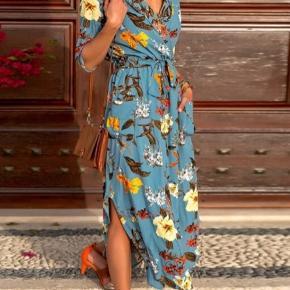 Skjortekjole i lækkert sommer mønster
