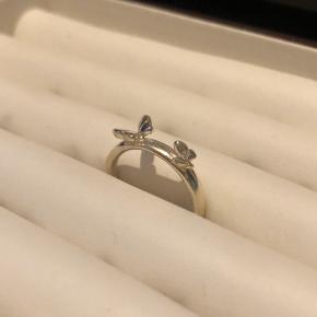 Sommerfugle ring fra spinning i sølv  Str. S  Byttes ikke - mulighed for afhentning