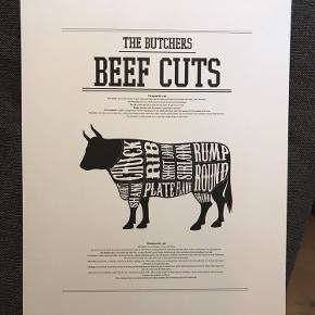 Beef cuts plakat fra Desenio i str. 30x40 Sælges for 40 kr ved afhentning på Nørrebro