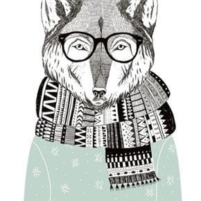 21 x 30 cm - Mr Wise Fox plakat