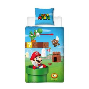 Nyt super Mario sengetøj/ sengesæt i voksen str. Kan sendes med DAO for 45kr eller hentes i Esbjerg