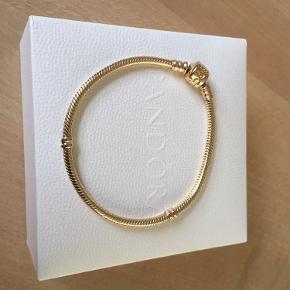 Guld Pandora Armbånd i 14K Str. 19 cm.