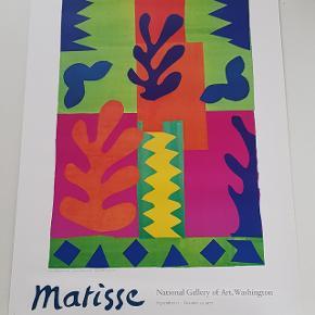 Plakat med motiv af Matisse fra en udstilling på National Gallery of Art i Washington  Plakaten måler 55,5 x 112  Jeg sælger ud af min families store samling af plakater, der er samlet over mange år  Alle plakater er kun til afhentning på Teglholmen