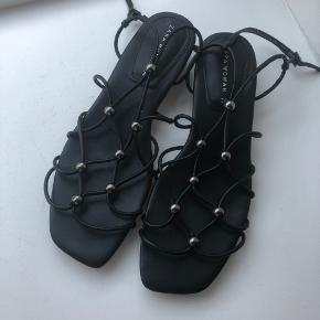 Black strappy sandals from Zara Worn once.  Pickup: Frederiksberg or central Copenhagen