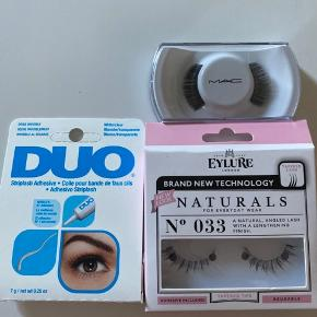 Uåbnet lashes fra MAC og Eylure (no. 033)  Og Duo Striplash Adhesive 7g