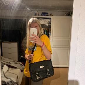 Fed vintage taske i læder