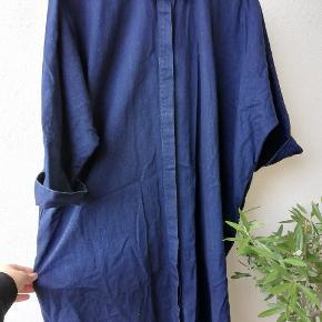 Skjortekjole med lommer denim