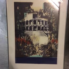 Tre litografier i ramme. Sælges for 250 pr stk eller 650 samlet