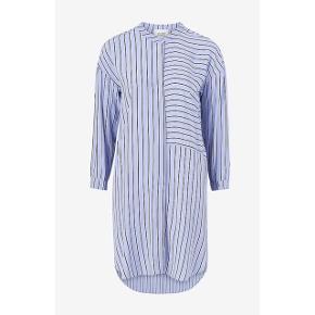 Second Female skjorte kjole i blå med sorte striber   størrelse: S   pris: 250 kr   fragt: 39 kr ( 37 kr ved TS handel )   #30dayssellout