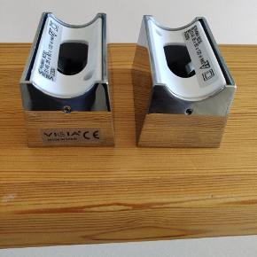Sokler til linestra rør, spanks design af Vibia, model 8030 krom. Set af 2. Aldrig brugt