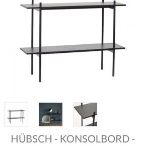 2 stk. Hübsch konsolborde overvejes at sælges da vi desværre ikke har pladsen alligevel. L120 H90  Pris pr. styk.  Kan stilles ved siden af hinanden, så det bliver én lang reol.   Står i Aalborg.