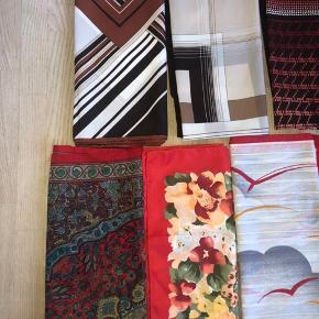 Flotte vi tagetørklæder i forskellige designs og nuancer. Sælges for 30kr pr. stk. Ved køb af flere giver jeg gerne rabat.