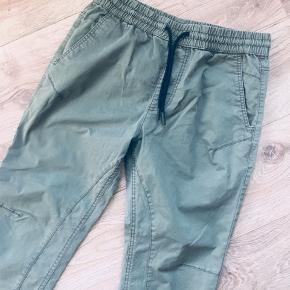 Fede cargo bukser med elastik i linning og ved ankler str 31/32