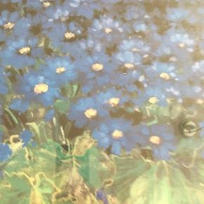 Blomstermotiv i mahogni ramme str.63 x83 cm Skal afhentes i Sædding Sender ikke denne vare🍀🌺🌸