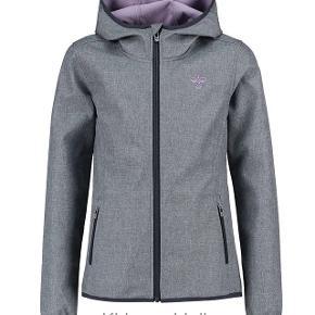 Flot softshell jakke, gråmeleret med fast hætte.. str 16Nypris. 649.95