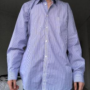 Balenciaga white/blue striped shirt, perfect condition, only ever warn for picture, unwanted present