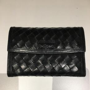 Belsac sort læder pung 15 x 10,5 cm