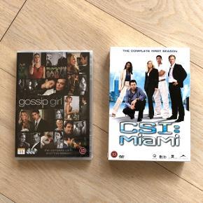 HELT NYE! CSI: Miami - Sæson 1 Gossip Girl - Sæson 6 (stadig i plastfolie)