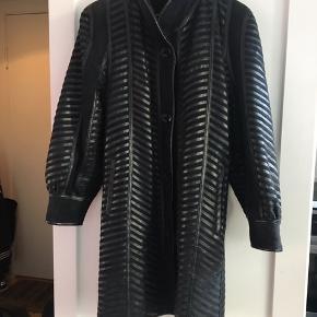 Vintage retro frakke i skind