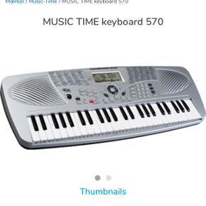 BYD ! Music Time Keyboard, brugt i kort periode. Nypris kr. 699,-. Stativ haves også