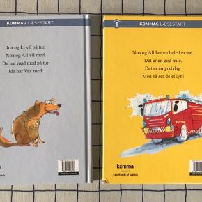 """Læs let bøger med titlerne """"Ild et i træ"""" og """"Vaks er væk"""". Carlsens læsestart. Prisen er Per styk  Sælges samlet for 40kr. Ny pris kr 59,95  Er helt nye!"""