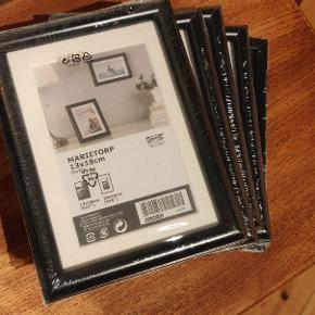 5 stks ubrugte billedrammer fra Ikea. 10 kr pr stk eller alle fem samlet for 35 kr