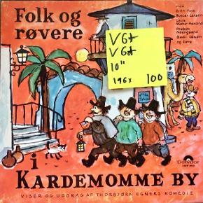 Vinyl lp plade til børn folk og røvere i Kardemommeby børnemusik børnelp god stand