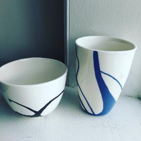 Skål og krus af DH keramik Roskilde