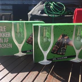 Royal ølglas 6 stks i alt Aldrig været pakket ud  Befinder sig i 9300 Voerså