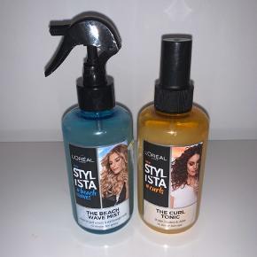 Hårprodukter fra L'Oréal. En Beach wave mist og en curl tonic. 50kr pr. stk.