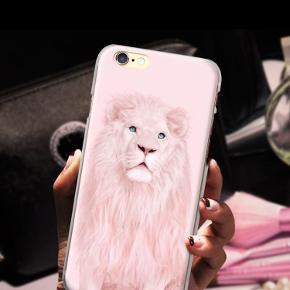 Blødt iPhone cover i TPU med motiv af løve.