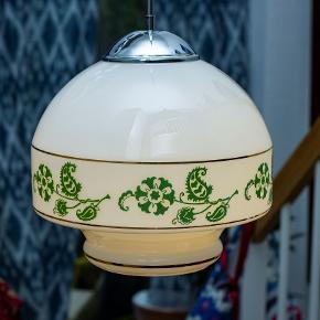 Tjekkisk glaskunst 196o'erne. Flor retro lampe fra det tidligere tjekoslovakiet.  Enkelt eller som par, 5 stk. på lager. bud modtages gerne.