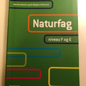 """Naturfag niveau e og f. E-nøglen virker ikke, da den er brugt og mit navn er skrevet i bogen, men det er de eneste """"fejl""""."""