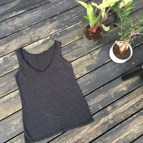 Black Vest Top - perfect basics piece for the closet. Keeps warm as underwear. In good condition.