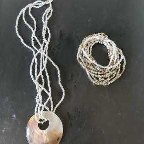 Flot armbånd og halskæde sælges samlet.  Kan sendes på købers regning! :)