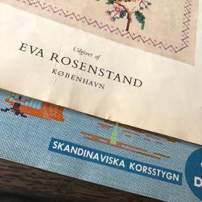 To broderihæfter fra DMC og Eva Rosenstand med masser flotte diagrammer.  Gamle hæfter der har ligget i mange år og kan slet ikke købes mere.  Smid et bud.