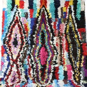 Boucherouite tæppe måler 205x140 cm. Porto er 120 kr og jeg sender med GLS