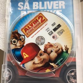 Filmen Alvin og de frække Jordegern. Sjov for hele familien (især de små).