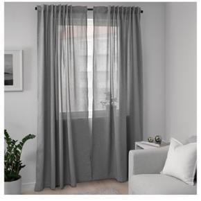 Helt nye grå gardiner fra IKEA HANNALENA Pakket ud men farven passede ikke, så de er ikke brugt.   Spar 100,- fra nypris 😊
