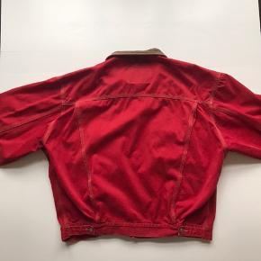 Vintage Diesel denim jakke Rød Str L, fitter M-L