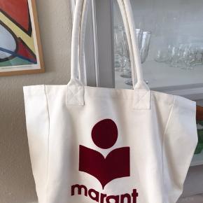 Helt ny lækker Isabel Marant taske med mørkerødt logo.