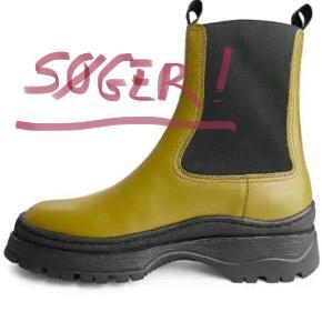 SØGER SØGER SØGER   Chunky-Sole Leather Boots fra Arket. Str. 38/39!