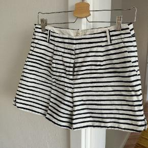 Very cute striped shorts. You can also fold the bottoms as shown.  Nice heavy 100% cotton Size 4 or small (purchased in Canada)