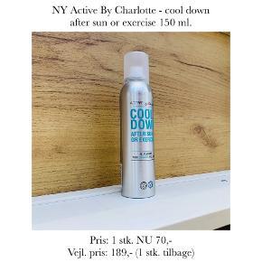 NY Active By Charlotte - cool down after sun or exercise 150 ml.   Pris: 1 stk. NU 70,- Vejl. pris: 189,- (1 stk. tilbage)   Se også over 200 andre nye produkter, som jeg har til salg herinde :-)