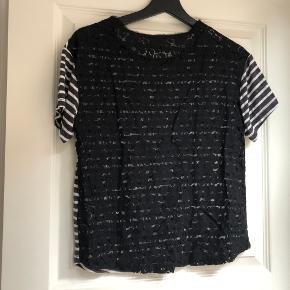 Sælger denne t-shirt, da jeg ikke får den brugt.  Den har en utrolig flot ryg med blonder.  Skriv endelig, hvis du ønsker flere billeder - også af den på. Og så er du velkommen til at give et bud :)  Er du interesseret i at købe flere ting, så kan vi også sagtens finde en god pris på det.