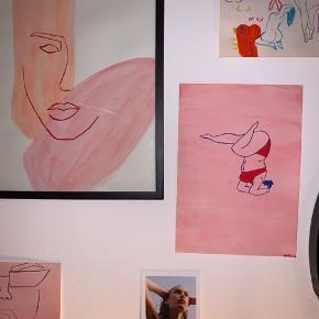 Elegant one line / single line plakat på A3  Sælges uden ramme   Skriv hvis du ønsker at få malet noget bestemt🌸