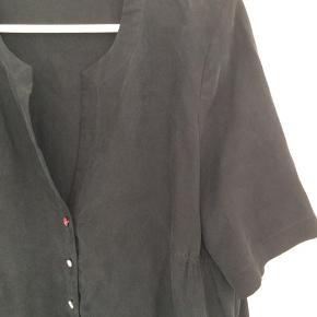 100% silke Sort, billedet snyder