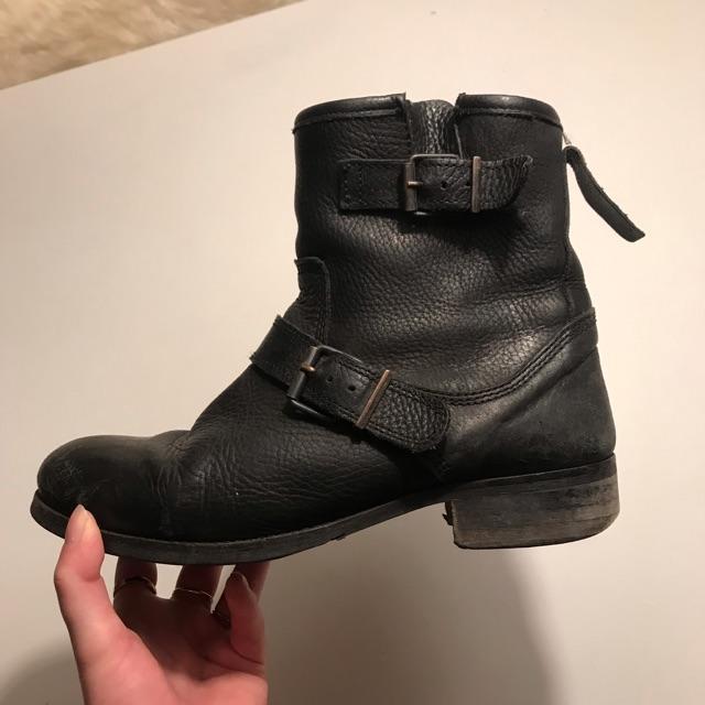 pavement støvler århus, Sort skind støvle fra Pavement med